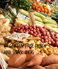 Lunch and Snack Ideas    http://marocmama.com/2012/06/40-gluten-free-lunch-and-snack-ideas.html