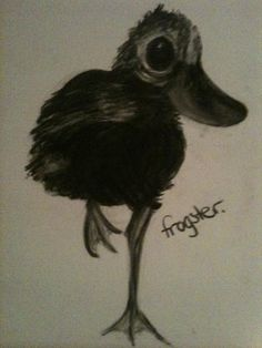 'Duck duck goose' charcoal art by 'frogster'