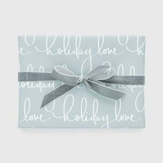 Blue Holiday Love Gift Wrap, Single Roll - Sugar Paper™ : Target