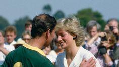 Charles and Diana at polo
