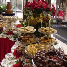 Decadent Sweet Table with Chocolate Fountain