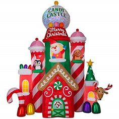 Christmas Santa Animated Gingerbread House Inflatable Airblown