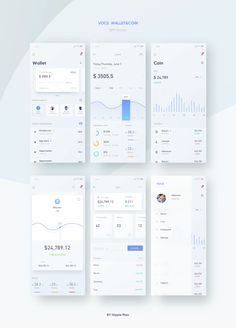 Dribbble - page_all.png by Hippie Mao. Mobile Ui Design, App Ui Design, Dashboard Design, Interface Design, Dashboard Mobile, Mobile App Ui, Coin App, Diagram Design, App Design Inspiration