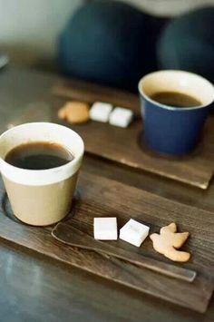 Coffee boards w/ spoon