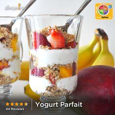 Yogurt Parfait from Allrecipes.com #dairy #fruit #grain #myplate
