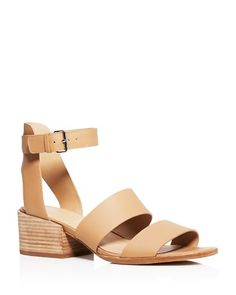 Vince's understated-chic sandals, designed exclusively for us, were made for brunches and beyond in bands of smooth leather with sturdy stacked heels.   Leather upper, leather lining, leather sole   I