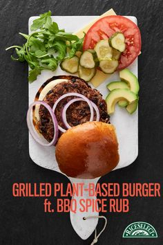 Pineapple Fanta, Grilling Recipes, Cooking Recipes, Appetiser Recipes, Burger Seasoning, Plant Based Burgers, Healthy Foods, Healthy Recipes, Cigar Club