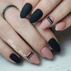 42 Perfect Winter Nails for the Holiday Season and more ★ Classy Matte Nails in Dark Shades Picture 5 ★ See more: http://glaminati.com/perfect-winter-nails-holiday-season/ #winternails #naildesign
