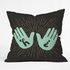Nick Nelson Hi Fives Throw Pillow | DENY Designs Home Accessories