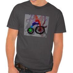 abstract bicycle mens tee shirts