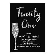 21st Birthday Invitation Invitations Diy Design Invites Card