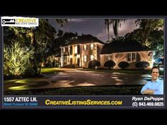 Mount Pleasant SC Luxury Homes For Sale | 1557 Aztec Ln Mt Pleasant SC -- This is a CUSTOM waterfront luxury home.