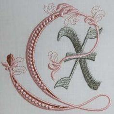 Fleur de Lis Alphabet- X