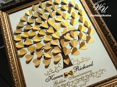Gold Ombre Wedding Guest Book Idea 3D Tree with by WeddingUkraine