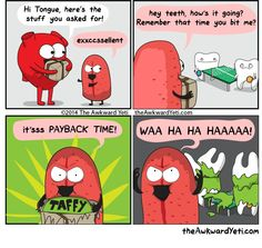 Hahaha #awkwardyeti #heart #tongue