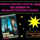 """On sale NOW! Here is a complete literary unit for the novel """"Among the Hidden"""" by Margaret Peterson Haddix. The unit contains vocabulary work, critical thinking/discussion questions, achievement test type questions in reading and math, writing ideas, and activities to go along with the unit."""