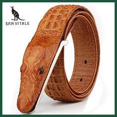 c18abe306f4 Mens Belts Luxury cow Leather Designer Belt Men High Quality Ceinture Homme  Cinto Masculino Luxo Crocodile