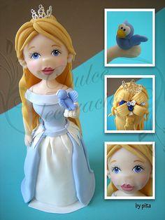dulce princesa / sweet princess by Dulce decoración (modelado - tartas decoradas), via Flickr