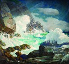 N.C. Wyeth - Maine Headland, Black Head, Monhegan Island, c. 1936-1938. The Wyeths, Maine and the Sea   Farnsworth Art Museum