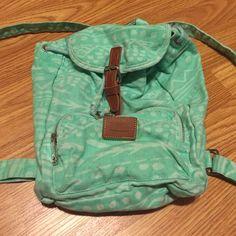 Victoria secret mini bookbag Vs pink mini book bag. Mint Aztec design! So cute and great condition  PINK Victoria's Secret Bags Mini Bags