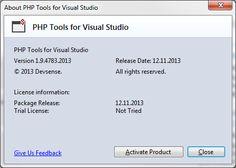 Activate PHP Tools for Visual Studio Activities, Studio, Studios