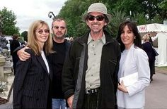 with wife Olivia and Ringo and Barbara