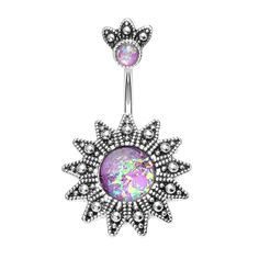 A sensational navel piercing ring featuring a golden Aztec inspired design. This belly button ring boasts a sensational opal gem. Stomach Piercings, Bellybutton Piercings, Piercing Ring, Tongue Piercings, Cartilage Piercings, Piercing Ideas, Cartilage Earrings, Opal Belly Ring, Dangle Belly Rings