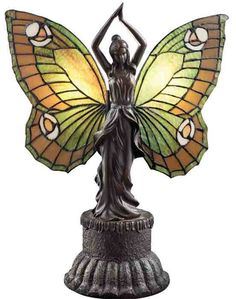 A fascination for the diaphenous-winged lifeform that glides on a breeze was evident in the Art Nouveau Period. French sculptor, Auguste Louis Moreau left a legacy of bronze figurals. This is a cast replica of a coveted antique. Art Nouveau, Antique Lamps, Vintage Lamps, Antique Lighting, Butterfly Lamp, Madame Butterfly, Butterflies, Chandelier Design, Stained Glass Lamps