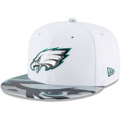 Men's Philadelphia Eagles New Era White 2017 NFL Draft Official On Stage 59FIFTY Fitted Hat