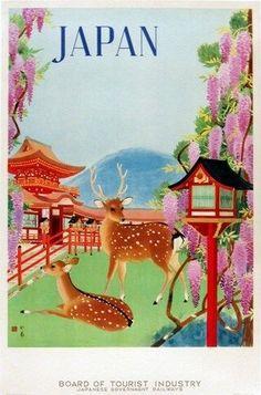 JAPAN VINTAGE TRAVEL POSTER Rare Hot New #VintageIllustrationPhoto