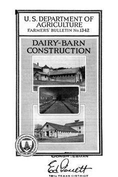 Dairy-barn construction.