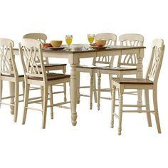 Bernards Stockton Oak Round Pub Height Table (Stockton PUB Table TOP AND  Table Base), Brown | Counter Height Pub Table, Pub Height Table And Bar  Tables