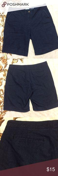 "Dockers Denim Shorts Size 16 Dockers Denim Shorts Size 16 flat side pockets zipper and button closure measurements taken laying flat: 18-1/2"" waist 11"" rise 10-1/2"" inseam Dockers Shorts Jean Shorts"