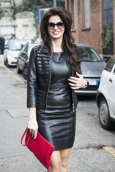 Lederlady ❤️ Black Leather Skirts, Leather Dresses, Leather Heels, Leather Outfits, Sexy Outfits, Fashion Outfits, Girl Fashion, Womens Fashion, Latex Fashion