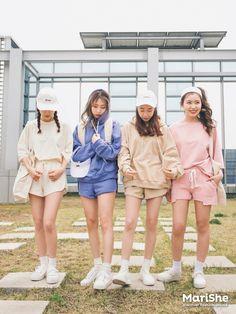 마리쉬♥패션 트렌드북! Korea Fashion, Kpop Fashion, Asian Fashion, Daily Fashion, Girl Fashion, Fashion Outfits, Womens Fashion, Matching Outfits Best Friend, Best Friend Outfits