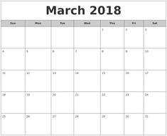 March 2018 South Africa Calendar Printable