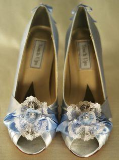 Special Size 7.5  Marie Antoinette Blue Tea Party Shoes