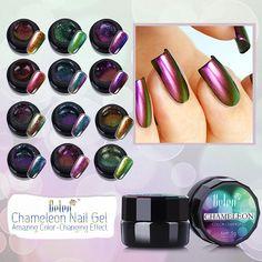 Belen All 12 Colors Chameleon Gel UV Glitter Luminous Gel 3D Colorful Phantom Manicure UV Gel Color Polishes Need UV LED Lamp