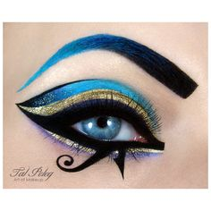Katy Perry Dark Horse inspired makeup nail-art ❤ liked on Polyvore featuring beauty products, nail care, nail treatments and eyes