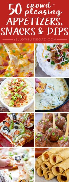 50 Crowd Pleasing Appetizers, Snack and Dips