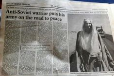 During the Cold War the Jihadist were considered freedom fighters by the West. They even collected money for them in pubs !  ... Random Historical Fact #002