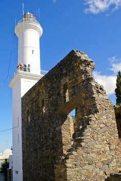Lighthouse  - Colonia del Sacramento, Uruguay. Founded in 1680 by Portugal as Colônia do Sacramento, the colony was later disputed by the Spanish who settled on the opposite bank of the river at Buenos Aires.