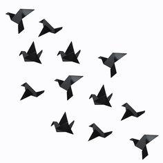 origami de pajaritos. #origami #bird