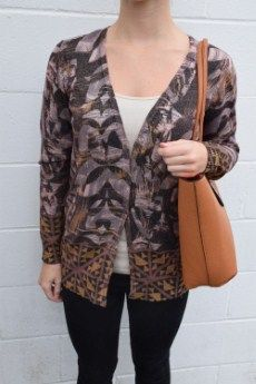 Tribal Printed Cardigan | S, M, L, XL  | Primary View | Tangerine Boutique