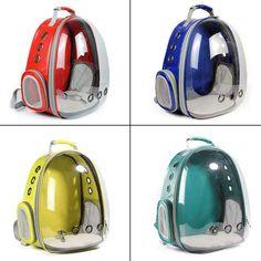 Portable Pet/Cat/Dog/Puppy Backpack Carrier Bubble, New Space Capsule Design 360 degree Sightseeing Rabbit Rucksack Handbag Tr Small Pet Carrier, Pet Carrier Bag, Puppy Backpack, Pet Bag, Transparent Bag, Cat Dog, Cat Supplies, Pet Carriers, Outdoor Dog