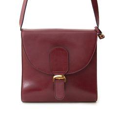 Vintage Bordeaux Delvaux Shoulder Bag