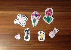 fingerprint art, kids, easter