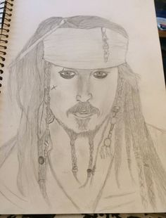 Did a jack sparrow drawing - Ashleigh Hunter