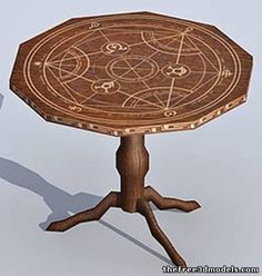 Horiscope carved table 3d game object