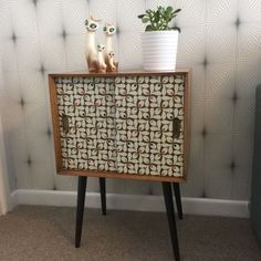 Vintage/retro Upcycled Orla Kiely Record Cabinet/holder/cupboard DansetteLegs | eBay